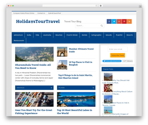 Free WordPress Top 10  – Popular posts plugin for WordPress plugin - holidaystourtravel.com