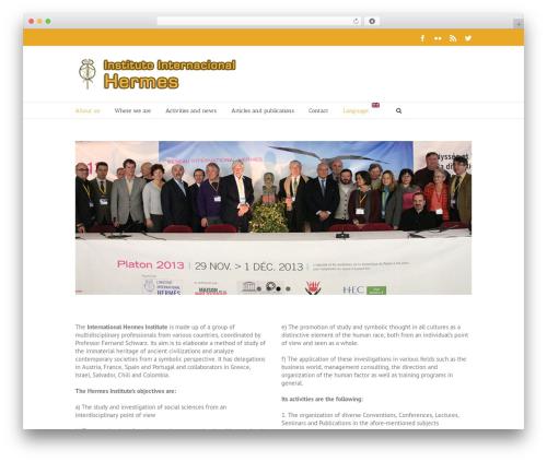 Template WordPress Avada - hermesinstitut.org