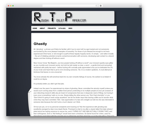 Template WordPress Responsive - roughtoiletpaper.com