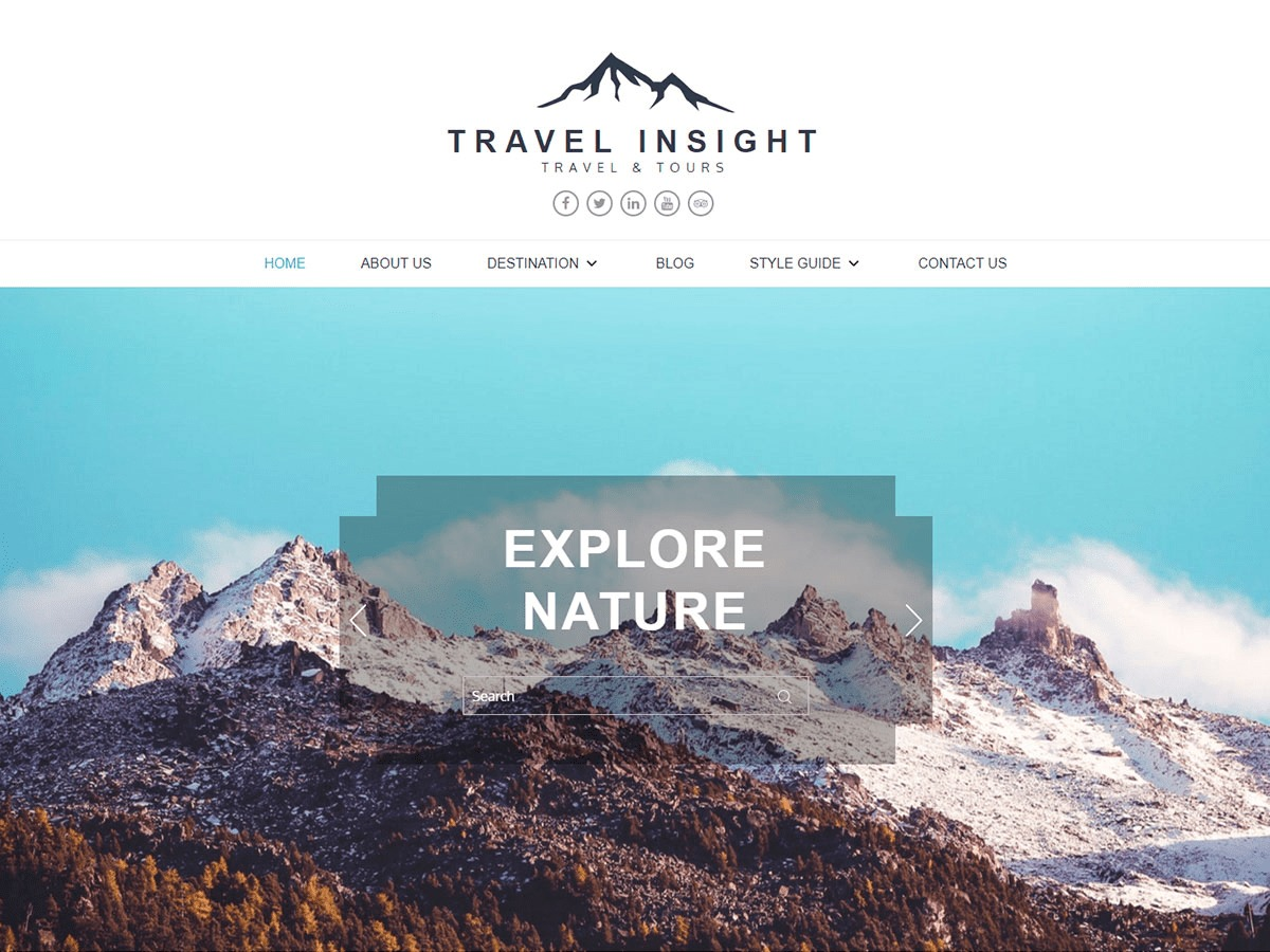 Travel Insight company WordPress theme