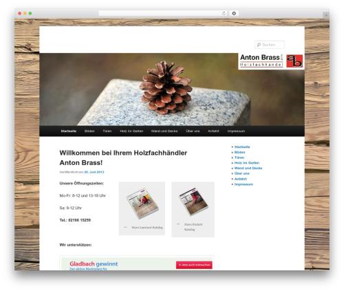 Twenty Eleven theme WordPress - holz-brass.de