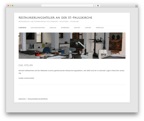 Twenty Twelve best free WordPress theme - restaurierung-muenchen.de