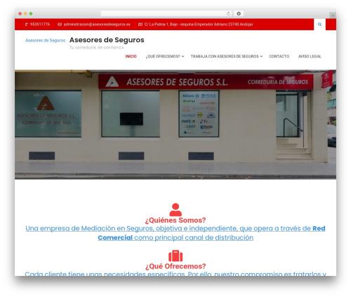 WordPress theme Deep Business - asesoresdeseguros.es