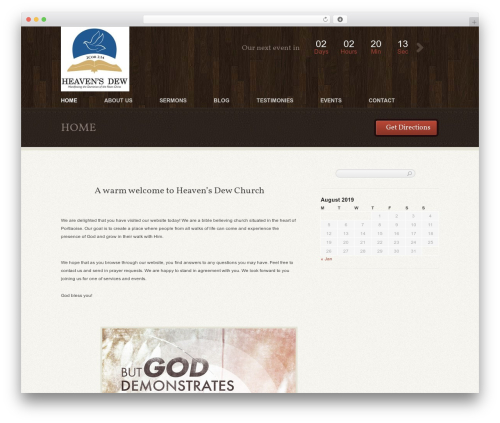 Free WordPress Bible Verse of the Day plugin - heavensdew.ie