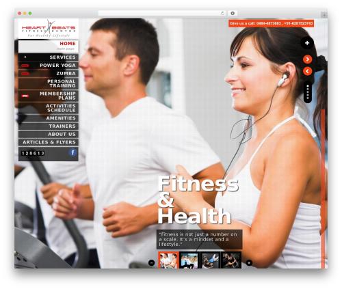 Kaleido for WordPress fitness WordPress theme - heartbeatsfc.com