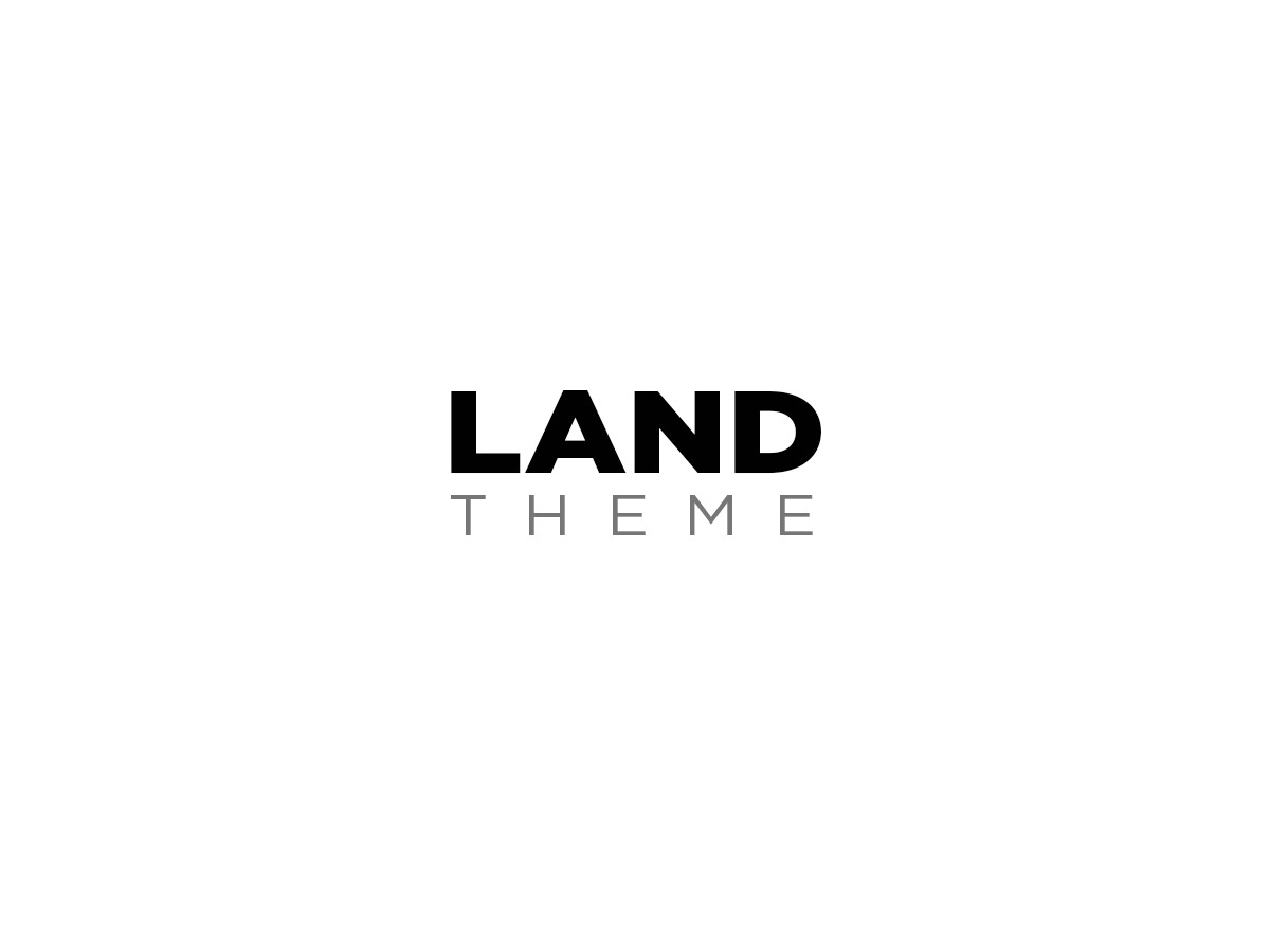land WordPress template