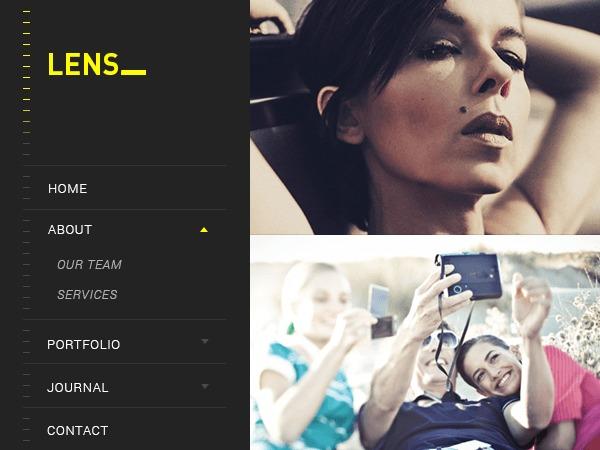 Lens WordPress template for photographers