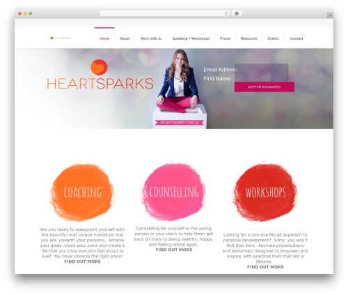 Lounge WordPress theme - heartsparks.com.au