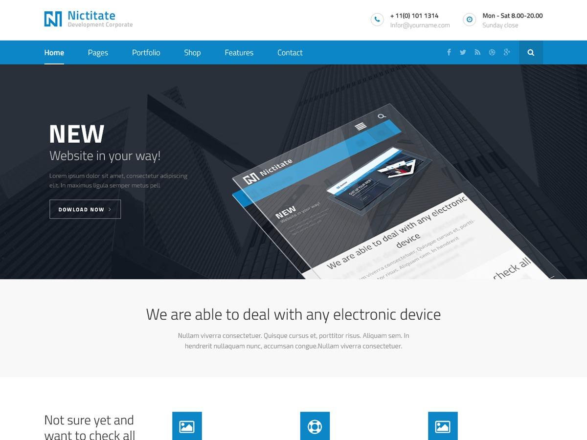 Nictitate 3 with WOO WordPress theme