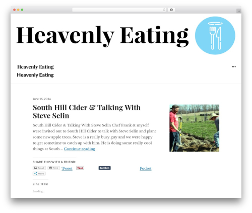 Resonar free WordPress theme - heavenlyeating.com