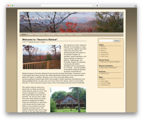 Template WordPress 2010 Weaver - heavensretreat.com