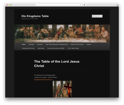 Twenty Eleven WordPress theme - hiskingdomstable.com