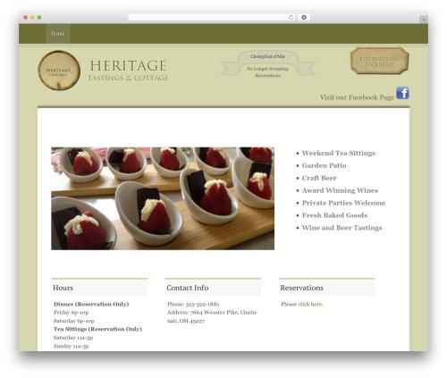 WordPress divi-builder plugin - heritagetastings.com