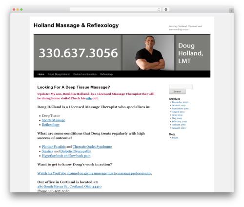 WordPress theme Twenty Ten - hollandreflexology.com
