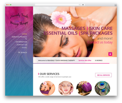 BeautySpot massage WordPress theme - heavenlytouchmassagehobbs.com