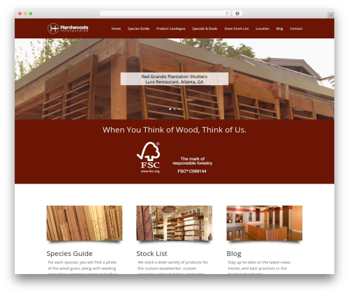 Divi WordPress theme - hardwoodweb.com/wp