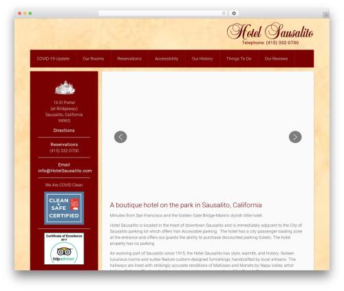 Everest WordPress template - hotelsausalito.com