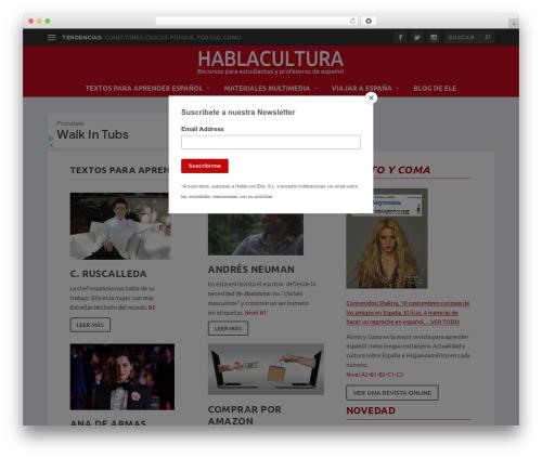 Extra WordPress page template - hablacultura.com