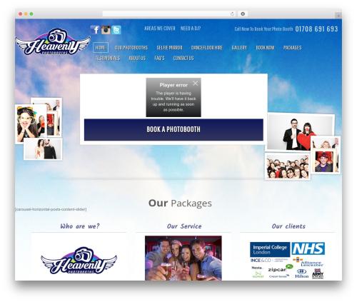 Gantry Theme for WordPress WordPress theme design - heavenlyphotobooths.co.uk