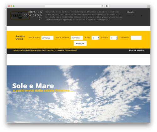 Kocka WordPress website template - hotelbermuda.it/web
