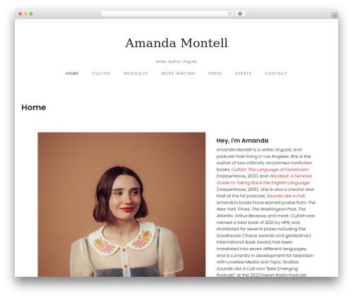 NEUE best WordPress template - amandamontell.com