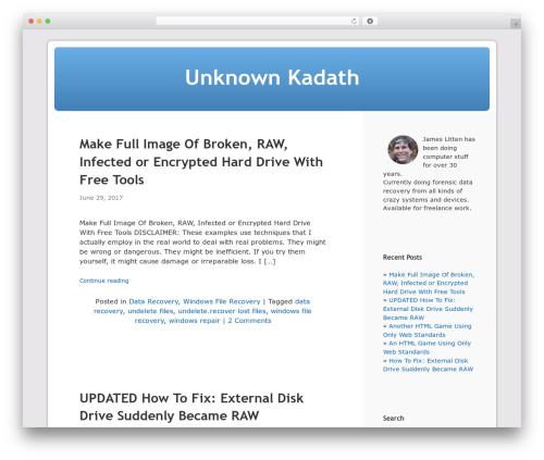 Responsive Kubrick theme free download - html5.litten.com
