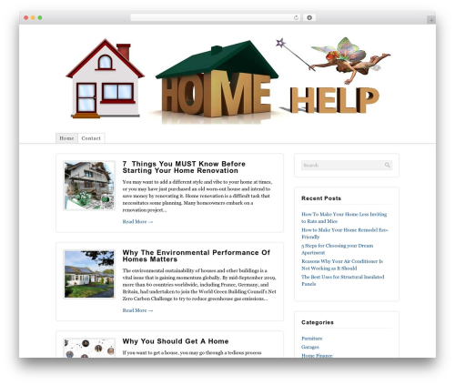 Shadows template WordPress - homehelps.net