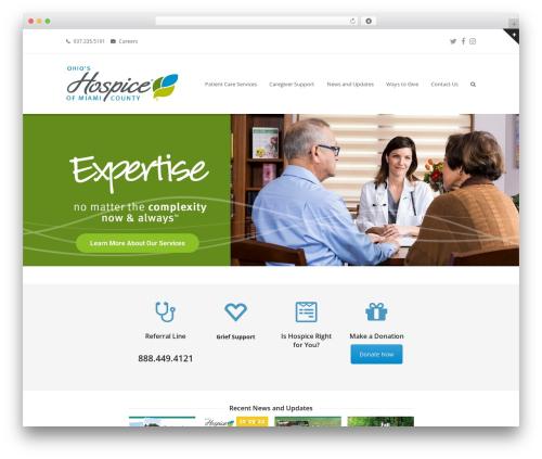 Total free WordPress theme - hospiceofmiamicounty.org