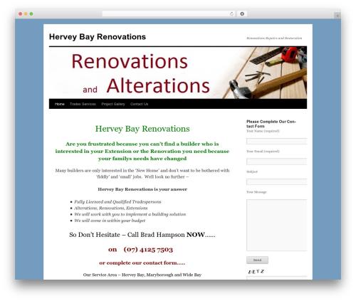 Twenty Ten free WordPress theme - herveybayrenovations.com