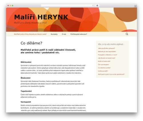Twenty Thirteen free WordPress theme - herynk.cz
