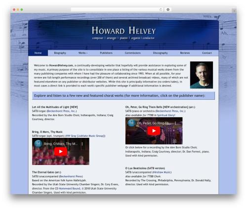 WP theme Catalyst - howardhelvey.com