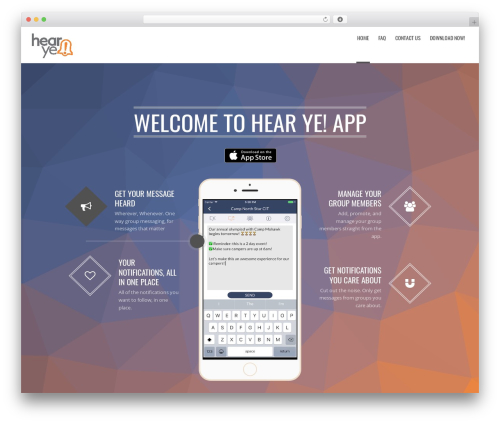Applay best WordPress template - hearyeapp.com