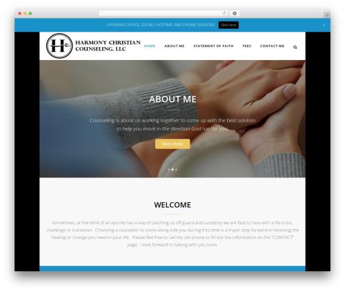 Best WordPress theme Bridge - harmonychristiancounseling.com