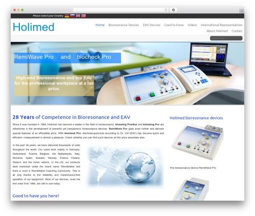Celestial Child WordPress theme - holimed.com