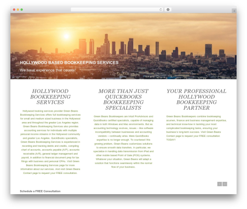 Enfold WordPress theme - hollywoodbookkeepingservices.com