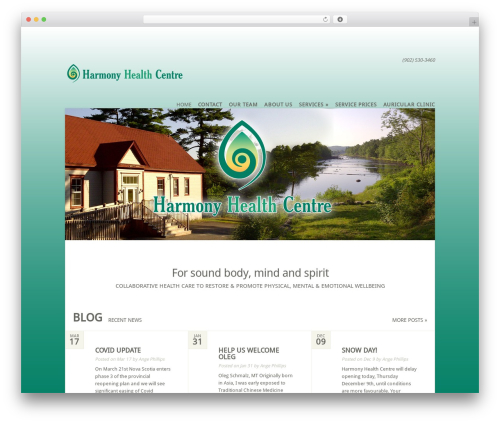 Flexible theme WordPress - harmonyhealthcentre.org