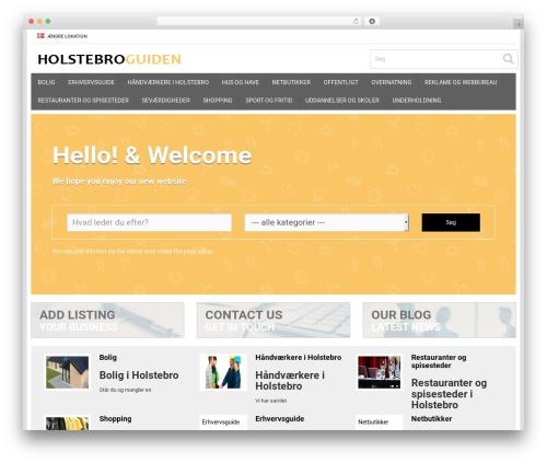 Responsive Business Theme company WordPress theme - holstebroguiden.dk