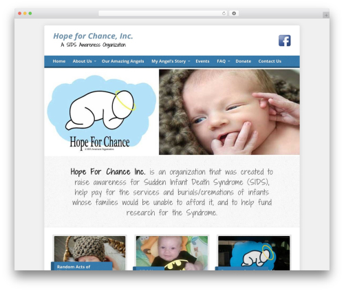 Risen WordPress theme - hopeforchance.org