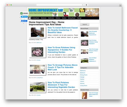Simple Fast Responsive WordPress blog theme - homeimprovementday.com