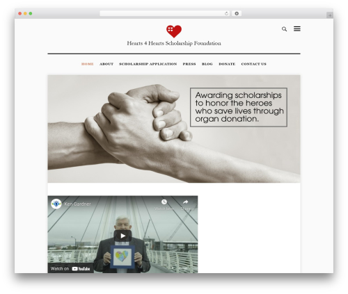 slimblog WordPress blog template - hearts4hearts.org