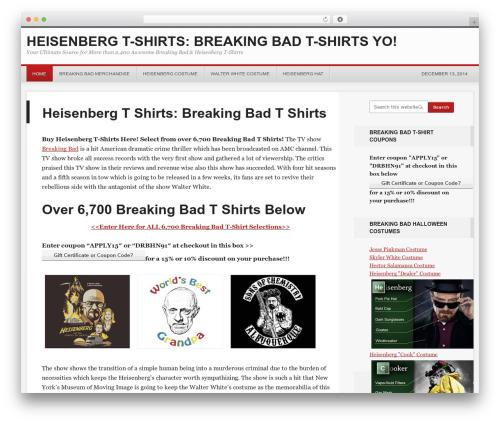 Theme WordPress Generate Child Theme - heisenbergt-shirt.com
