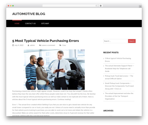 WordPress template Nuptial - hebdoweb.com