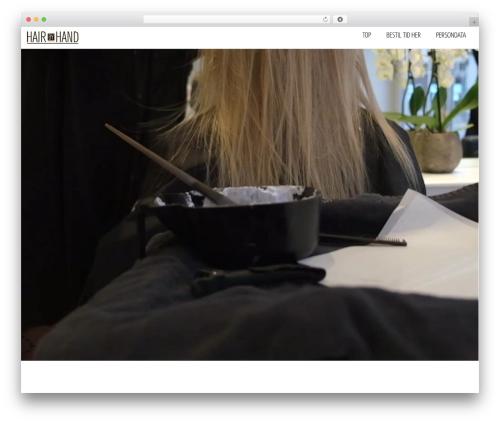 WordPress theme blackair - hairbyhand.dk