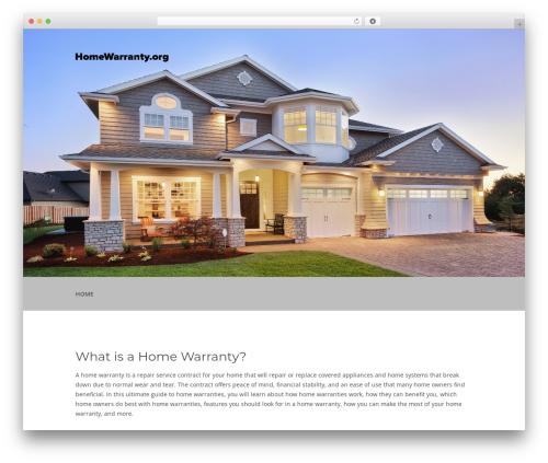 WordPress theme FirstOne OnePage WordPress Theme - homewarranty.org