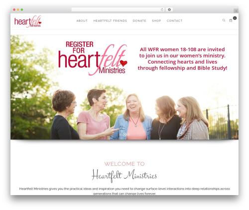 WordPress theme OneLove - heartfeltministries.org