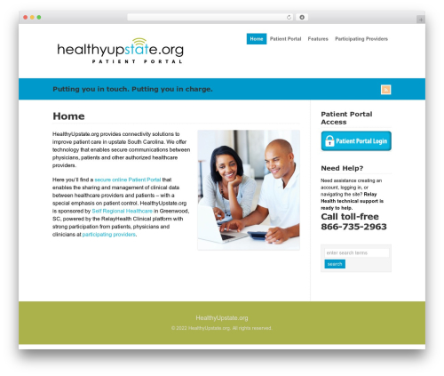 WP-Brilliance top WordPress theme - healthyupstate.org