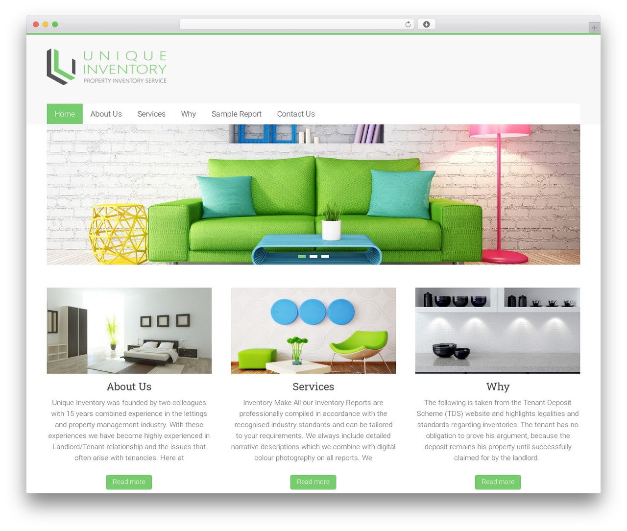 Accelerate company WordPress theme - uniqueinventory.co.uk