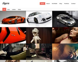 Agera personal blog WordPress theme