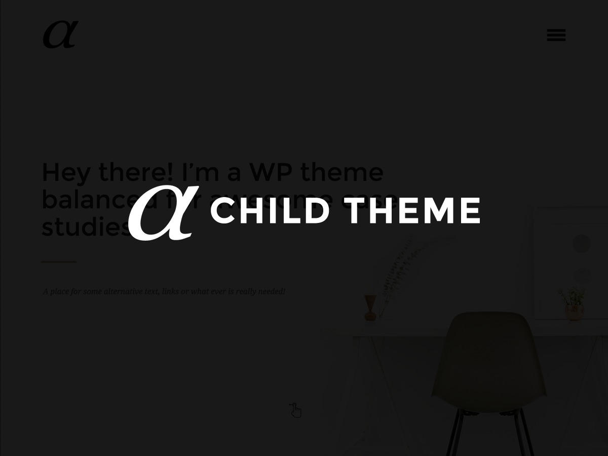 Alpha Child WordPress website template