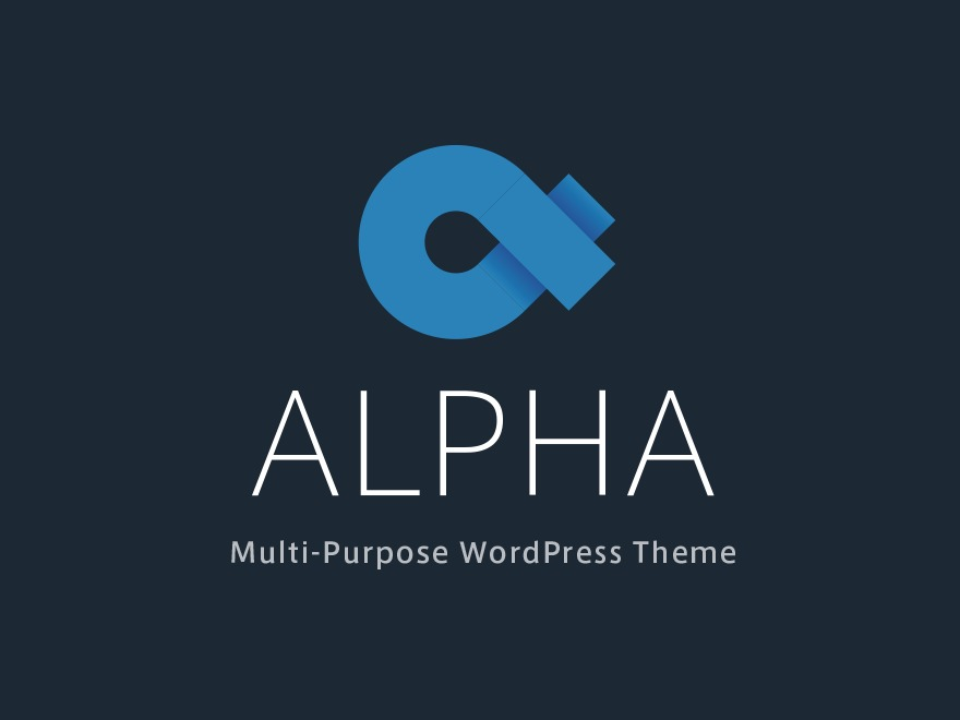 Alpha WordPress theme design